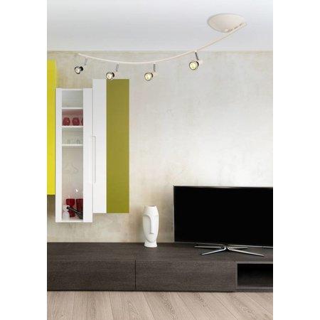 Plafonnier LED moderne blanc/noir/chrome/acier brossé 4xGU10 5W LED