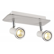 Plafonnier LED blanc/noir/chrome/acier brossé 2xGU10 5W 105mm H