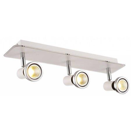 Ceiling light LED white/black/chrome/brushed steel 3xGU10 5W 105mm H