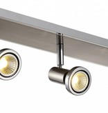 Plafonnier LED blanc/noir/chrome/acier brossé 3xGU10 5W 105mm H