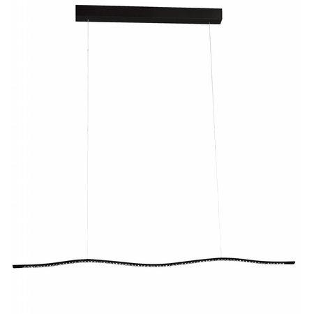 Luminaire suspendu LED blanc ou noir oblong 16,8W 1040mm large