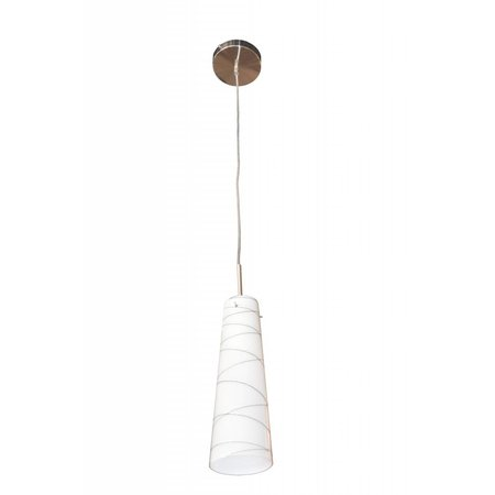 Pendant light glass white motif E27 93mm diameter
