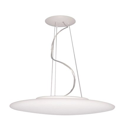 Pendant light glass white round 430mm wide 3xE27 1200mm