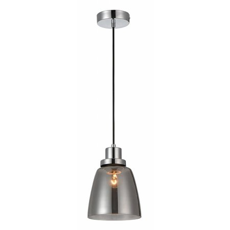 Hanglamp glas gerookt E27 200mm diameter