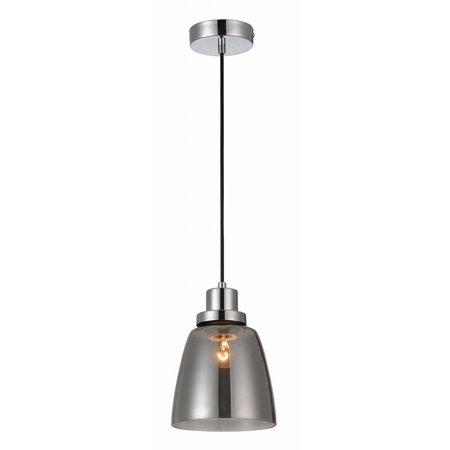 Luminaire suspendu verre fumé E27 200mm diamètre