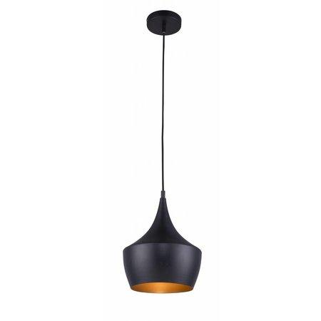 Pendant light design black-gold 1xE27 250mm diameter
