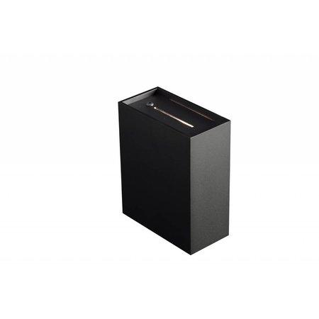 Wall light black, white, grey up down G9 125mm high