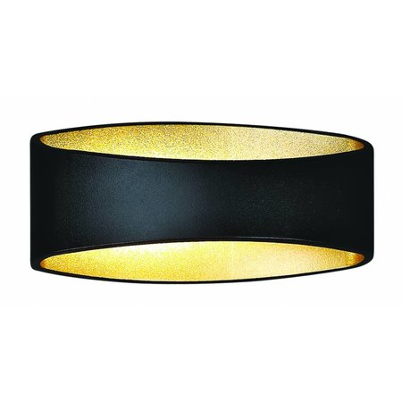 Wandlamp zwart goud, wit, grijs LED ovaal 5W 175mm breed