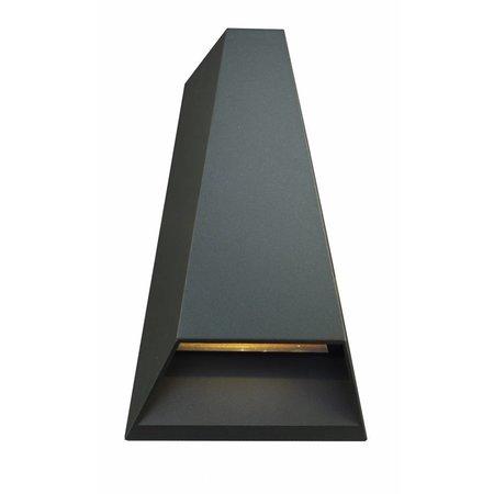 Wandlamp buiten LED zwart/wit/zilver/roest IP54 2x3W 173mm hoog