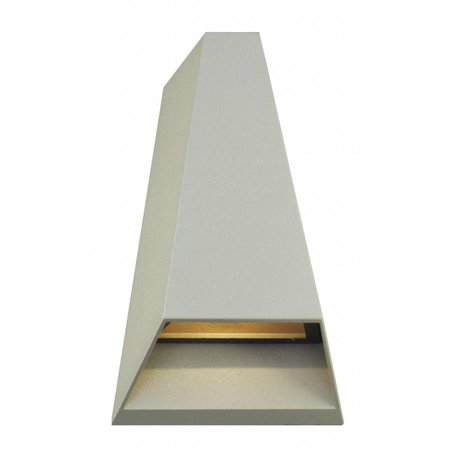 Outdoor wall light LED 2x3W graphite/white/silver/rust IP54 173mm high