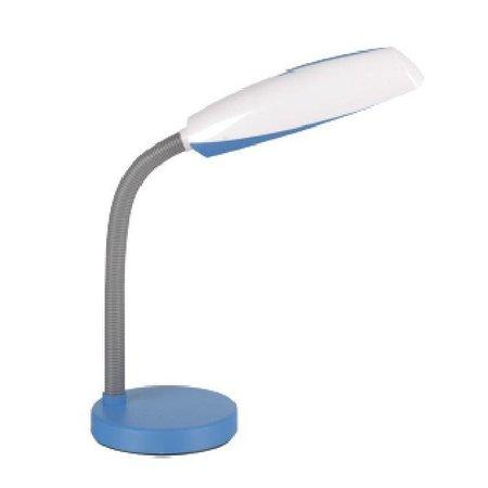 Bureaulamp wit-blauw, wit-groen, wit-paars E27 plooibaar 400mm hoog