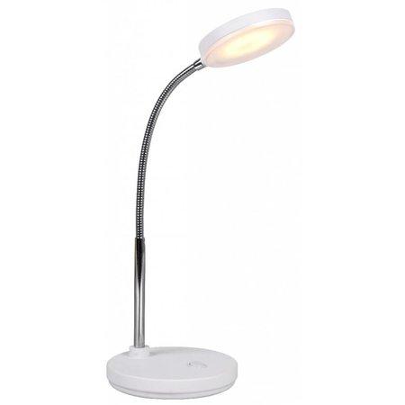 Lampe de bureau LED blanche ou noire pliable 5W 350mm haut