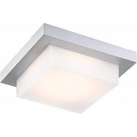 Plafonnier exterieur LED carré 5W LED IP54 argenté