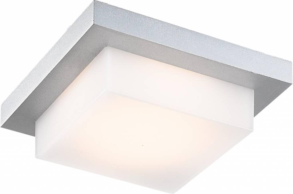 Badkamer Plafondlamp Led : Plafondlamp led buiten vierkant w led ip zilver myplanetled