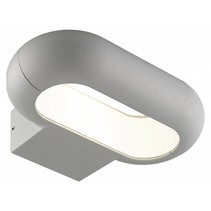 Wandlamp buiten LED ovaal 5W zilver of grafiet IP54 220mm breed