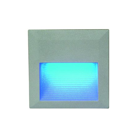 Wall light LED built-in square frontal 0,6W LED IP54 125mm