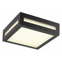 Outdoor ceiling light LED square 10W LED silver/graphite 220