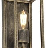Wandlamp zwart of roest landelijk E27 300mm hoog
