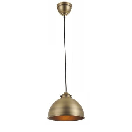 Pendant light silver/bronze round cap 1xE27 1560mm high