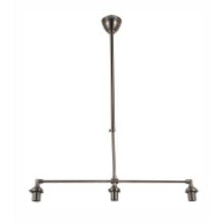 Hanglamp zilver/brons exclusief lampenkap 3xE27 860mm breed