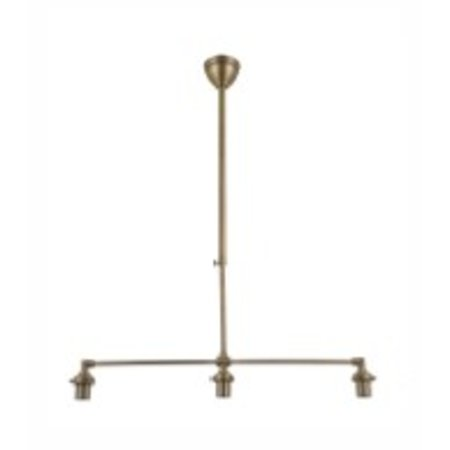 Luminaire suspendu argent/bronze abat-jour non-compris 3xE27