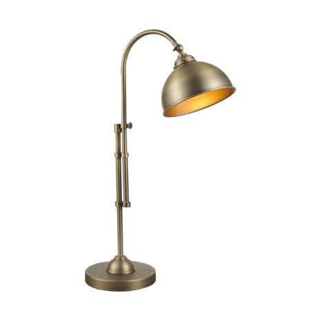 Table lamp silver/bronze lamp shade not included 1xE27 600-870mm high