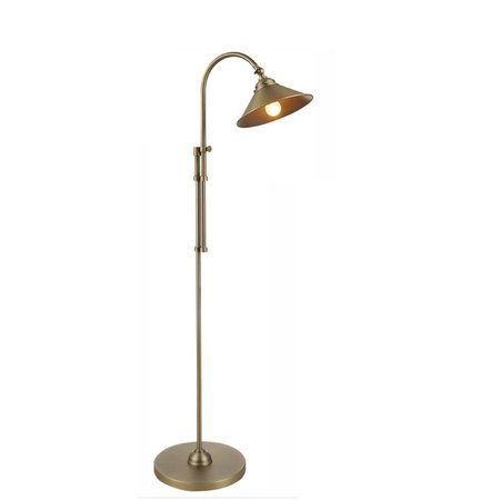 Floor lamp silver/bronze lamp shade not included 1xE27 1130-1500mm H