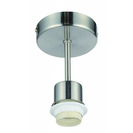 Hanglamp grijs 140mm hoog voor lampenkap stof