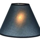 Lampenkap zwart/ecru/taupe stof conisch 250mm voor ARM-304/306