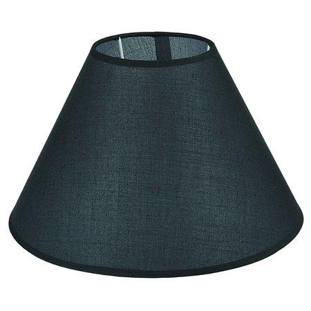 Abat-jour noir/écru/taupe tissu conique 350mm pour ARM-305-307