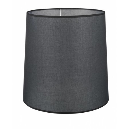 Lamp shade black/ecru/taupe fabric conical 400mm for ARM-305/307