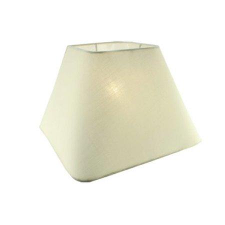 Abat-jour noir/écru/taupe carré tissu 250mm pour ARM-304-306