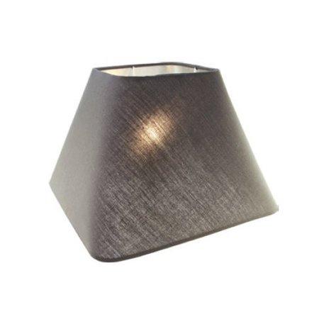 Lampenkap zwart/ecru/taupe stof vierkant 350mm voor ARM-305/307