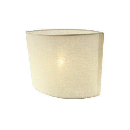 Abat-jour noir/écru/taupe oval tissu 260mm pour ARM-304-306