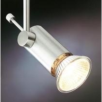 Plafonnier spot sur tige pin 70mm GU10 gris, blanc ou noir