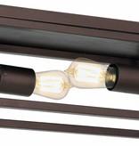 Plafonnier ruggine/vieux cuivre/noir 2xE27 400mm large