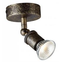 Plafonnier LED GU10 rouille sur tige avec spot dimmable 5W