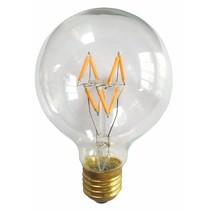 LED lamp E27 rond 4W filament dimbaar
