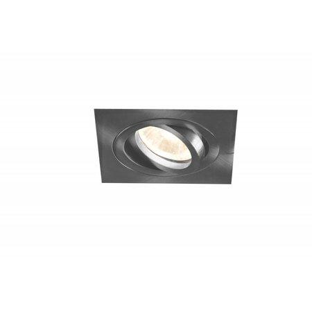 Spot encastrable GU10 sans spot carré blanc ou gris