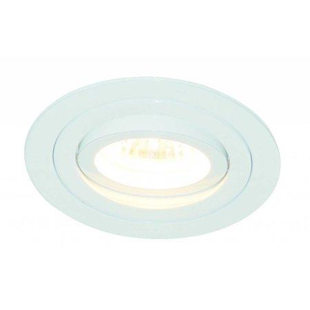 Spot encastrable GU10 sans spot rond blanc ou gris