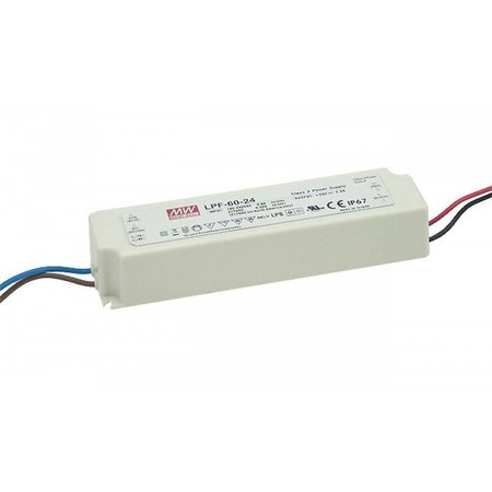 LED driver dimbaar Meanwell 0-60W 24V IP67