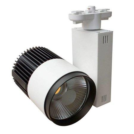 Railverlichting richtbaar wit LED 20W COB design 100mm Ø