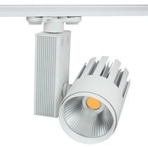 Spot sur rail LED 30W blanc moderne tri-phasé magasin