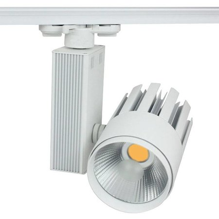 Railverlichting richtbaar wit LED 30W COB design 100mm Ø