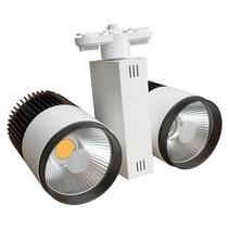 Spot sur rail LED 40W (2x20W) blanc moderne tri-phasé)