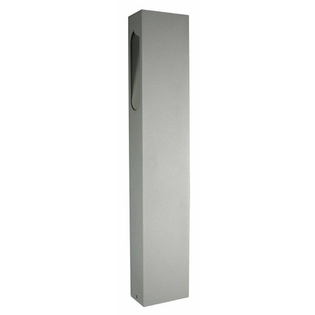 Bollard LED design white, silver, rust or graphite 650mm high 5W