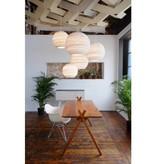 Pendant light design white or beige cardboard Ø 26cm E27