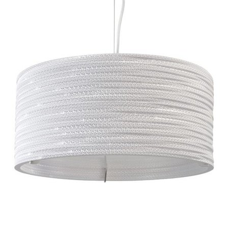 Pendant light design Ø 45cm white or beige round cardboard