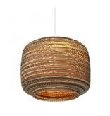 Pendant light design white-beige basket cardboard Ø 28cm