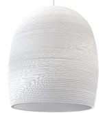 Luminaire suspendu design blanc beige carton Ø 27cm E27